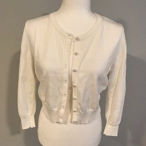 NWOT Karl Lagerfeld Paris Cropped Cardigan w/lace